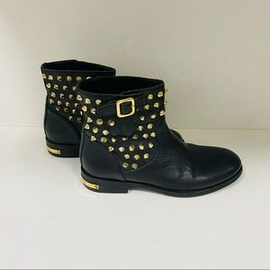 Phillip Plein Boots Leather with Grommets EUC 7.5